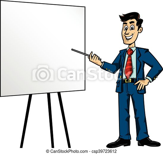 cartoon business man presentation vector clip art search rh canstockphoto com