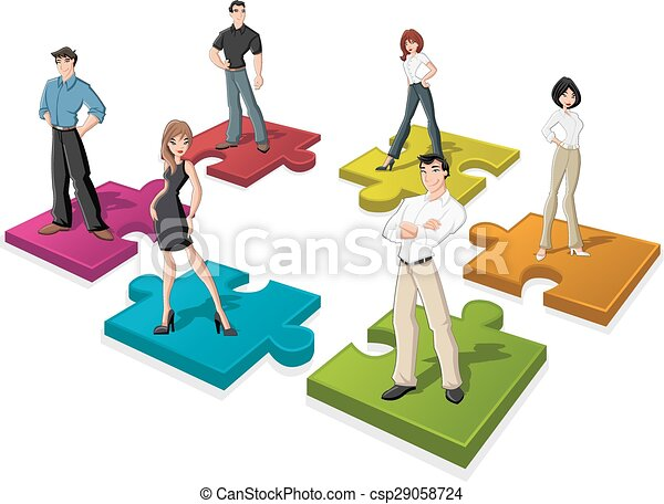 Cartoon business people - csp29058724