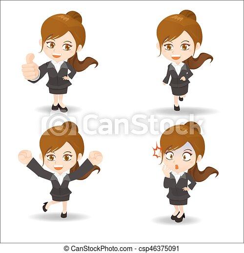 cartoon business woman - csp46375091