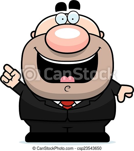 Cartoon Businessman Idea - csp23543650