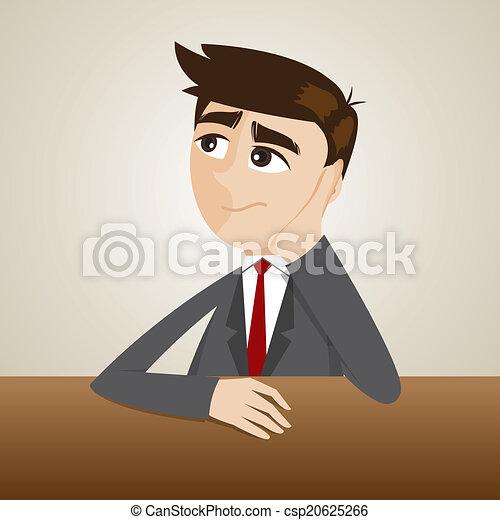 cartoon businessman thinking - csp20625266