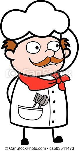 Cartoon Businessman thinking in Confusion - csp83541473