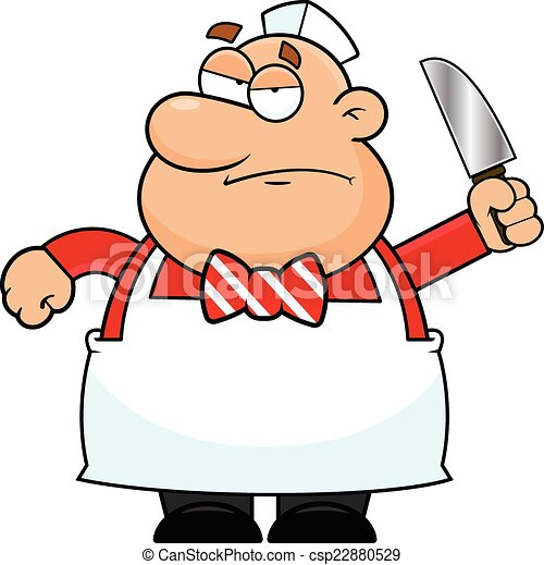 cartoon butcher grumpy cartoon illustration of a butcher with a rh canstockphoto com clipart grumpy cat grumpy man clipart