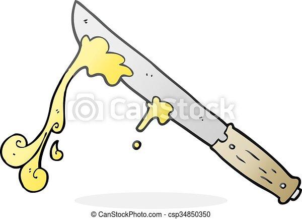 cartoon butter knife - csp34850350