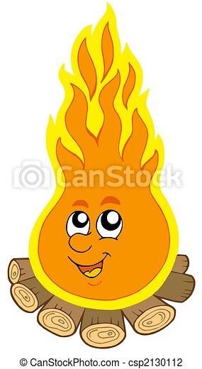 Cartoon camp fire - csp2130112