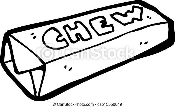 cartoon candy chew bar