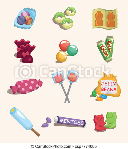 cartoon candy icon - csp7774085