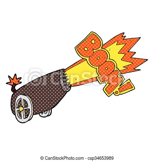 freehand drawn cartoon cannon shooting vector - search clip art