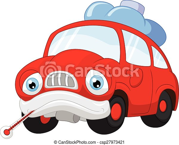 Cartoon car character needing repai - csp27973421
