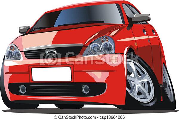 Cartoon car - csp13684286