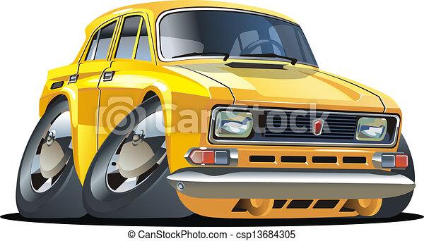 Cartoon car - csp13684305