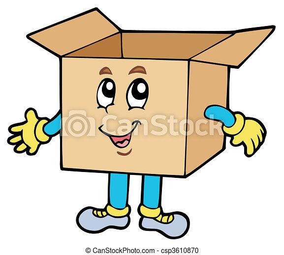 Cartoon cardboard box - csp3610870