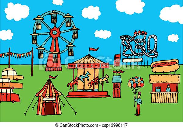 cartoon carnival / amusement park vector clip art - search