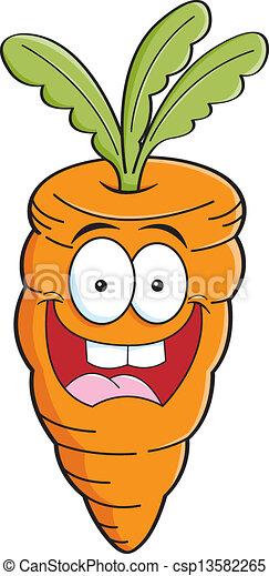Cartoon carrot - csp13582265