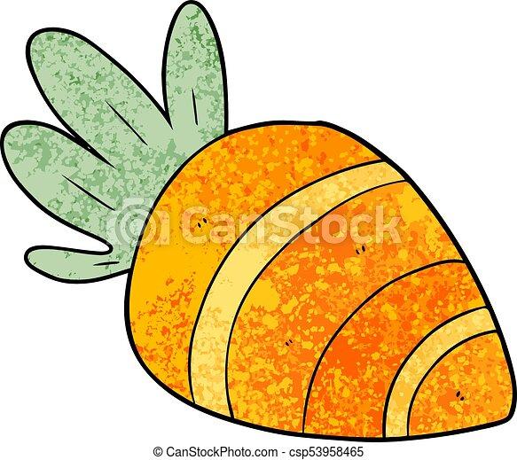 cartoon carrot - csp53958465