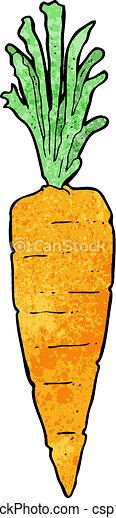cartoon carrot - csp17863477