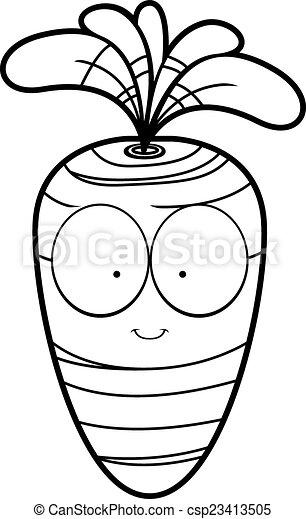 Cartoon Carrot - csp23413505