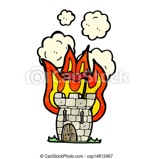 cartoon castle on fire clip art vector search drawings and rh canstockphoto com clip art castle and clouds clip art castles free