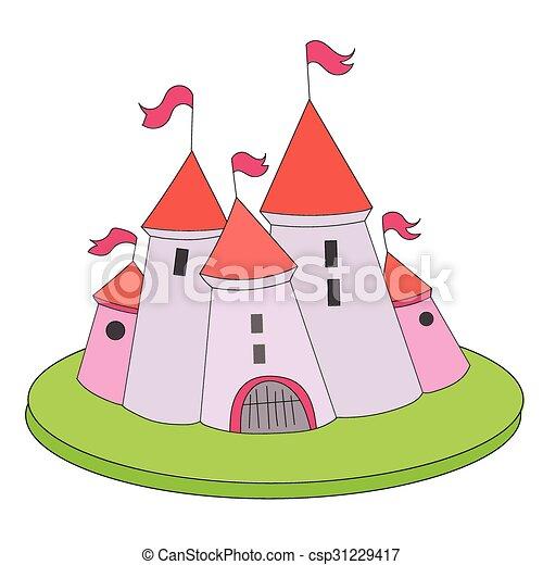 Cartoon castle vector illustration - csp31229417