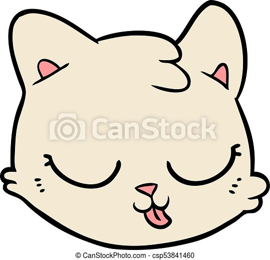 cartoon cat face clip art vector search drawings and graphics rh canstockphoto com cat face clipart black and white free clipart cat face