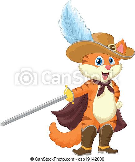 Cartoon Cat in boots - csp19142000