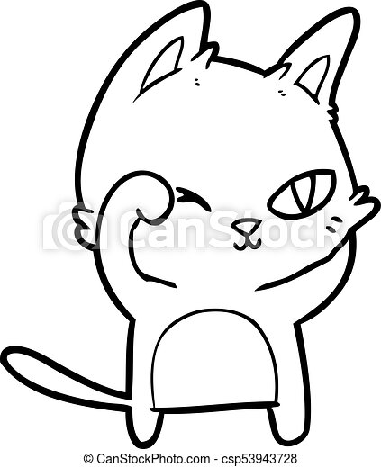 Cartoon Cat Rubbing Eye