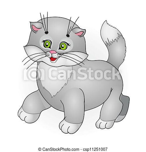 cartoon cat - csp11251007