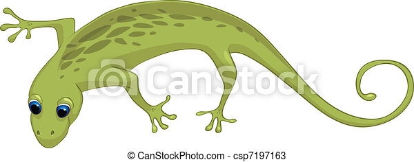 Cartoon Character Lizard - csp7197163