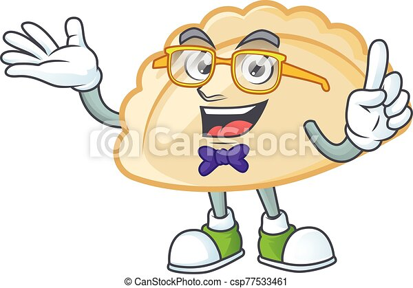 cartoon character of Geek pierogi design style - csp77533461