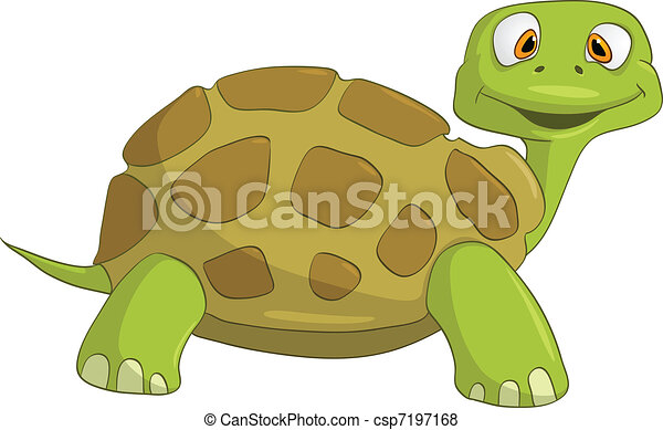 Cartoon Character Turtle - csp7197168
