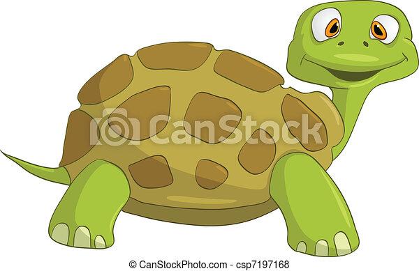 Cartoon Character Turtle - csp7197168