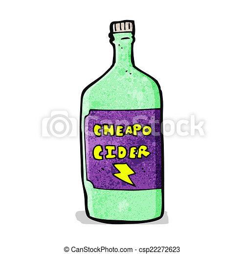 cartoon cheap cider - csp22272623