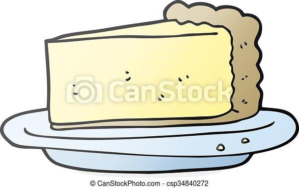 cartoon cheesecake - csp34840272