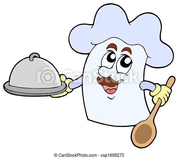 Cartoon chef hat - csp1658273
