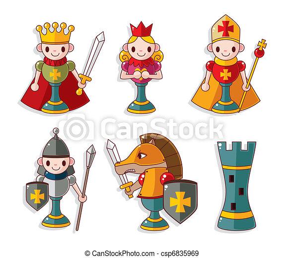 cartoon chess isolated - csp6835969
