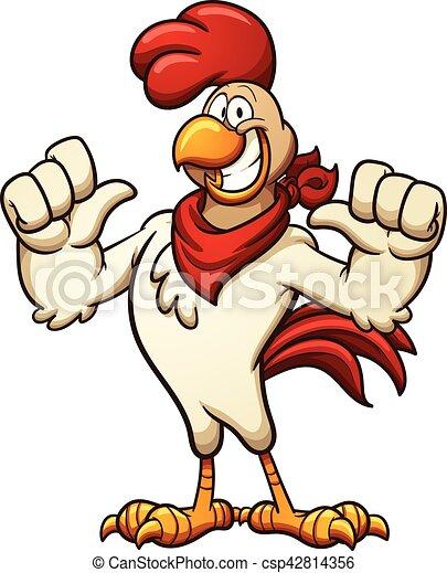 Cartoon chicken - csp42814356