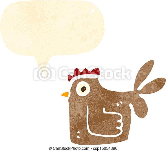 cartoon chicken - csp15054390