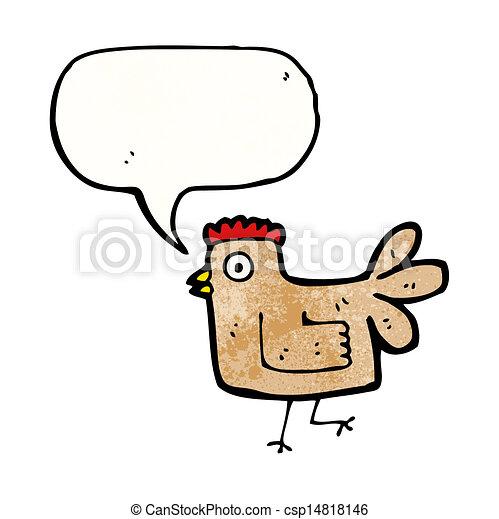 cartoon chicken - csp14818146