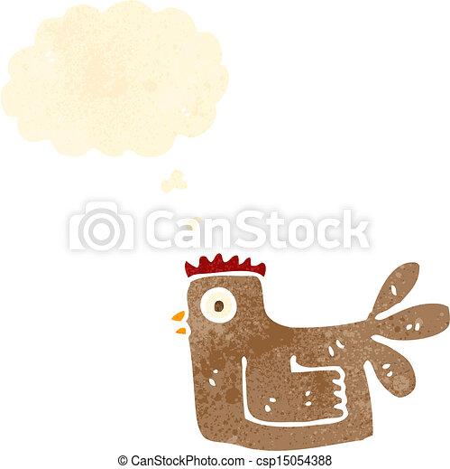 cartoon chicken - csp15054388
