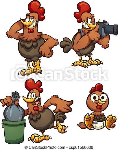 Cartoon chicken - csp61568688
