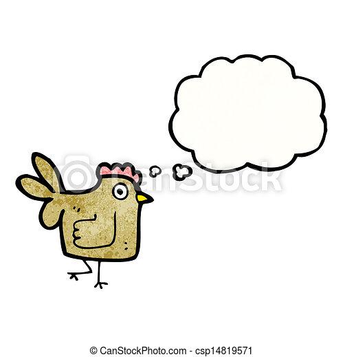 cartoon chicken - csp14819571