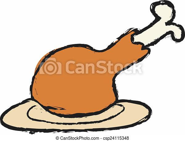 cartoon chicken leg rh canstockphoto com cartoon chicken drumsticks cartoon chicken leghorn