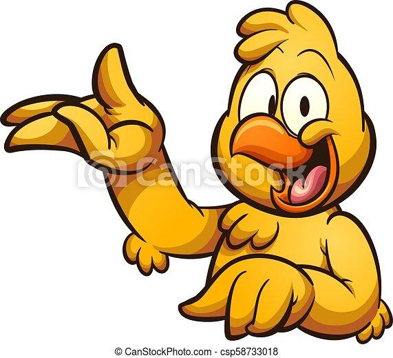 Cartoon chicken - csp58733018
