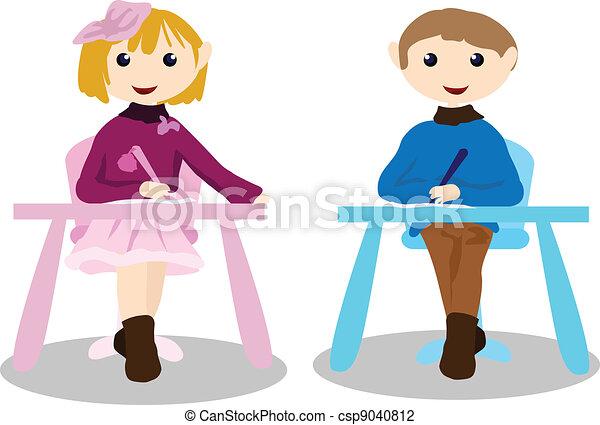 cartoon children activity - education - csp9040812