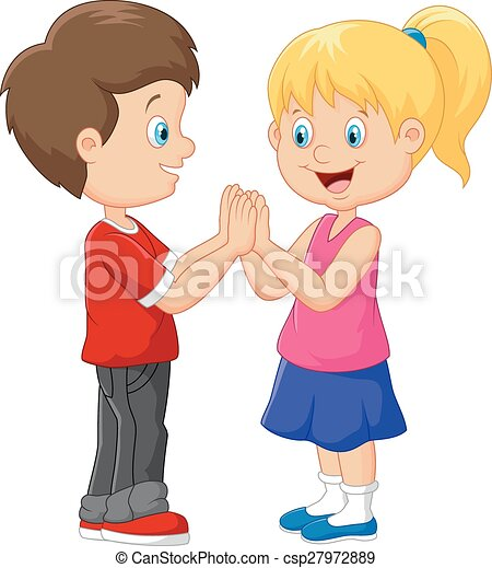 vector illustration of cartoon children hand clapping games vector rh canstockphoto com moving clapping hands clip art clapping hands clip art animated