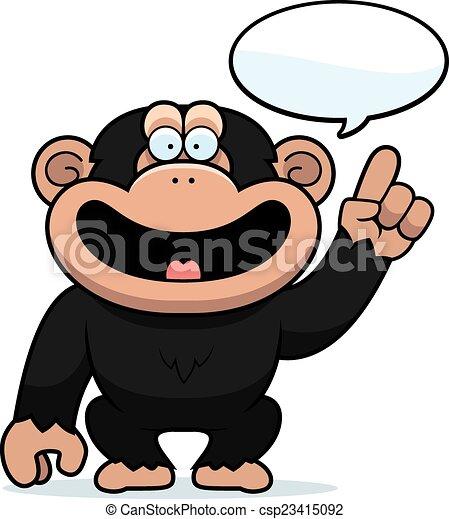 cartoon chimpanzee talking a cartoon illustration of a eps rh canstockphoto com chimpanzee face clipart chimpanzee clip art free
