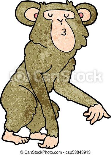cartoon chimpanzee vector clip art search illustration drawings rh canstockphoto ca  chimpanzee face clipart