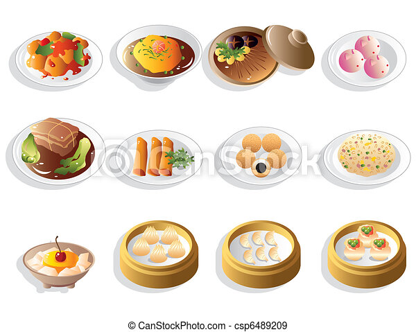 cartoon chinese food icon set rh canstockphoto com chinese food cartoon images chinese food cartoon song