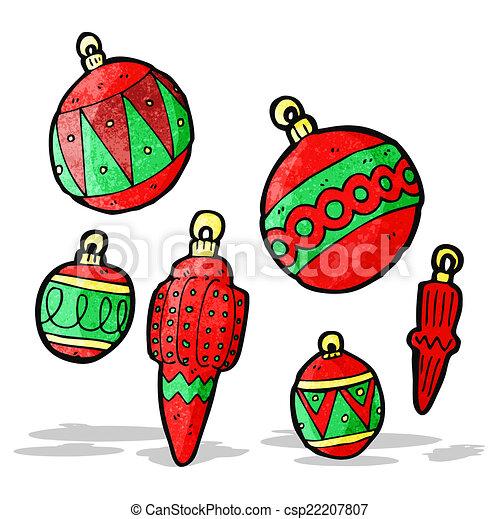 Cartoon Christmas Baubles