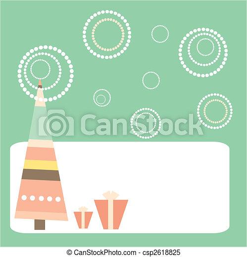 cartoon Christmas card - csp2618825